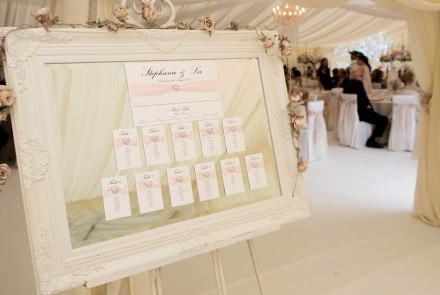 Easle and table plan