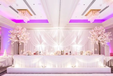 Head Table Skirting & swagging