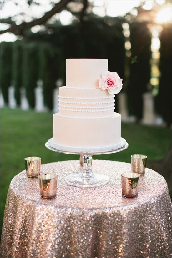 Sequin Cake Table Cloth Wedding Lounge