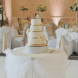 Cake table skirting and swagging