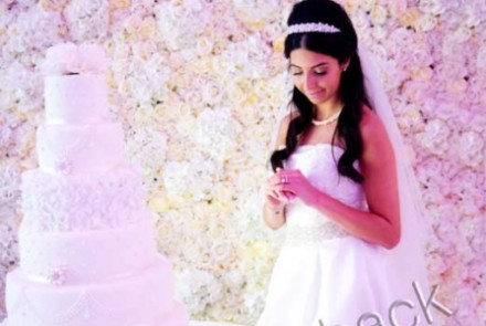 Cake flower wall backdrop