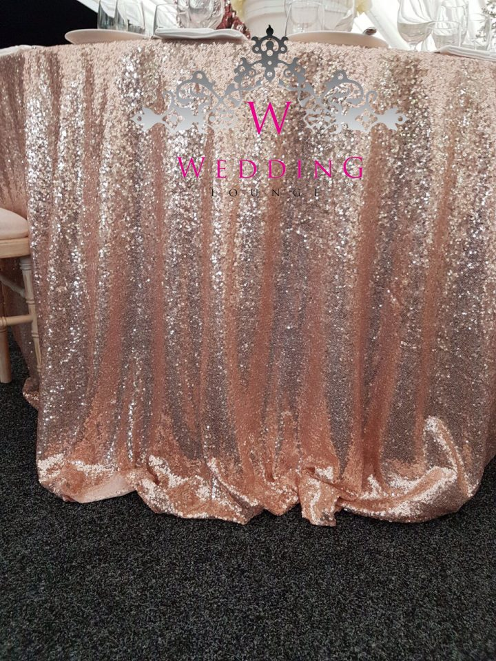 Sequin Table Cloth Wedding Lounge