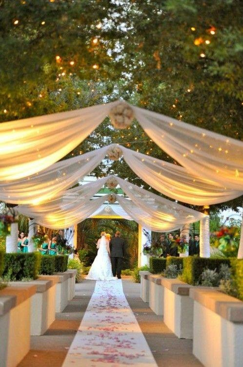 Draping with fairylights