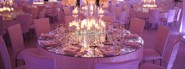 Dazzle your guests with our mirrored table tops reflective eye
