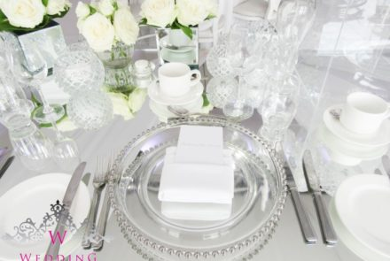Mirrored head table top