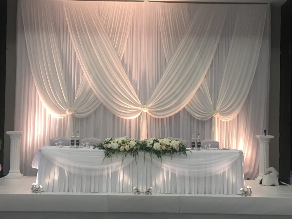 Romance Backdrop Wedding Lounge