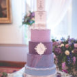 Raised glass cake table top