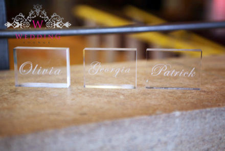 Bespoke place setting favours