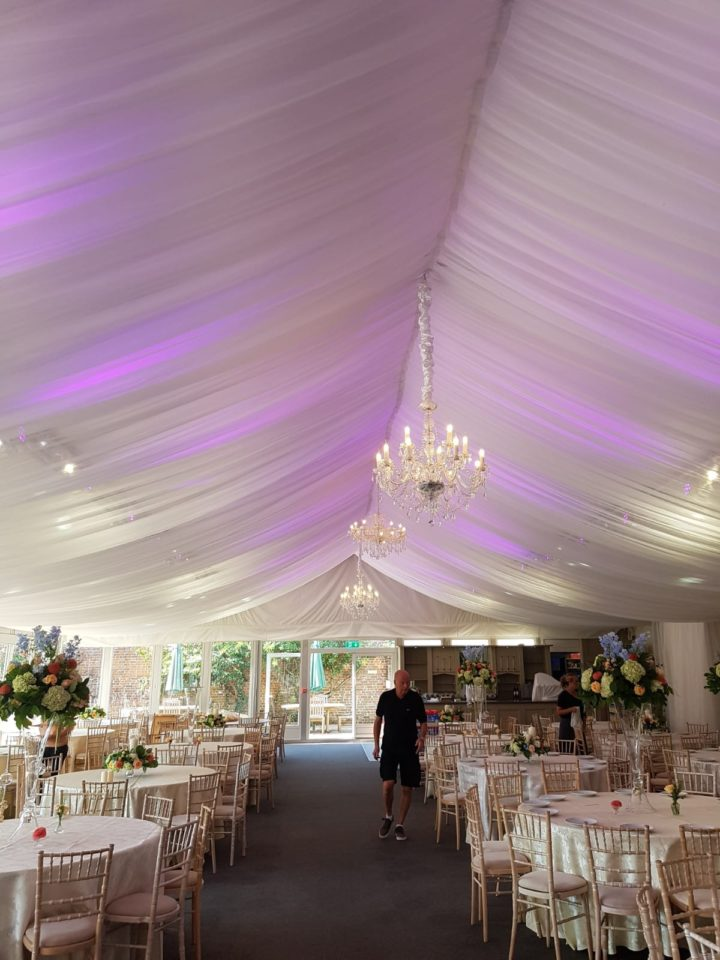 Full Ceiling Draping Wedding Lounge